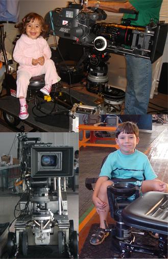 Produção Audiovisual - Proview - Set de filmagem com crianças