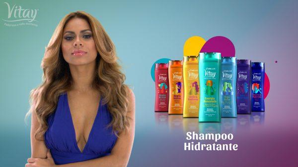 Shampoo Vitay. Poderosa a todo Momento.
